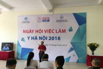 Ngày hội việc làm đại học Y Hà Nội năm 2018.