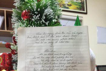 """""""Lời ca"""" – bài thơ bệnh nhân gửi tặng bệnh viện."""